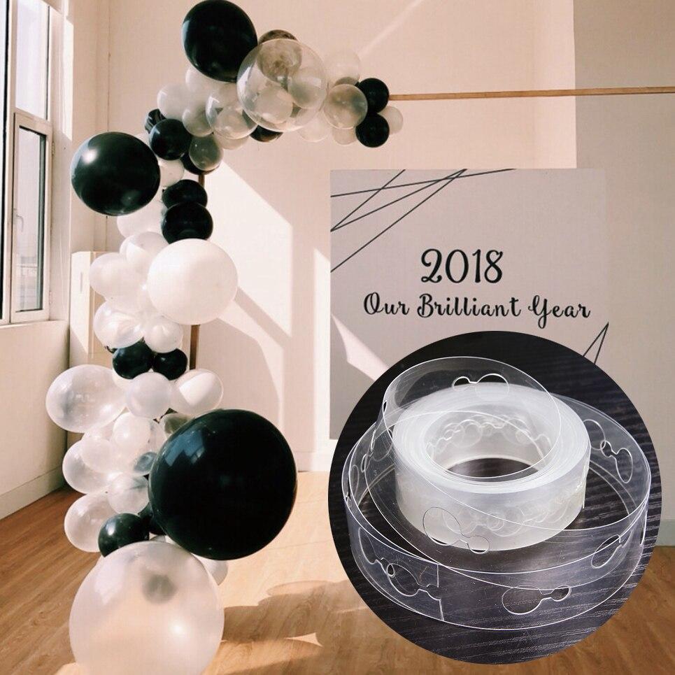 Accesorios de globos 5M Cadena de globo clip de globo cinta de pegamento clip de ciruelo boda fiesta cumpleaños accesorios de decoración de fondo