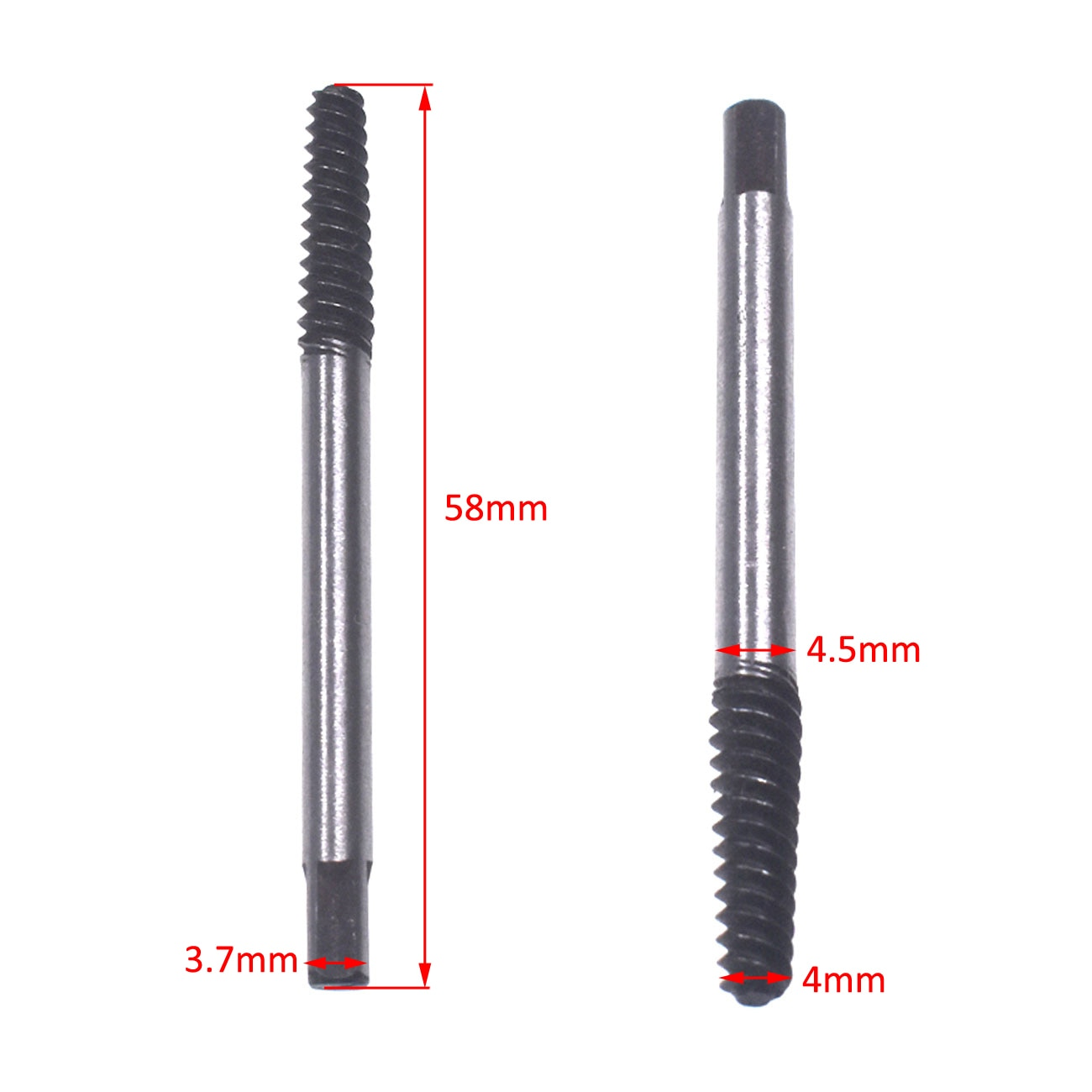 Pouvoir 3.7mm Screw Extractor Set Easy Out Drill Bits Guide Broken Screws Bolt Remover New enlarge