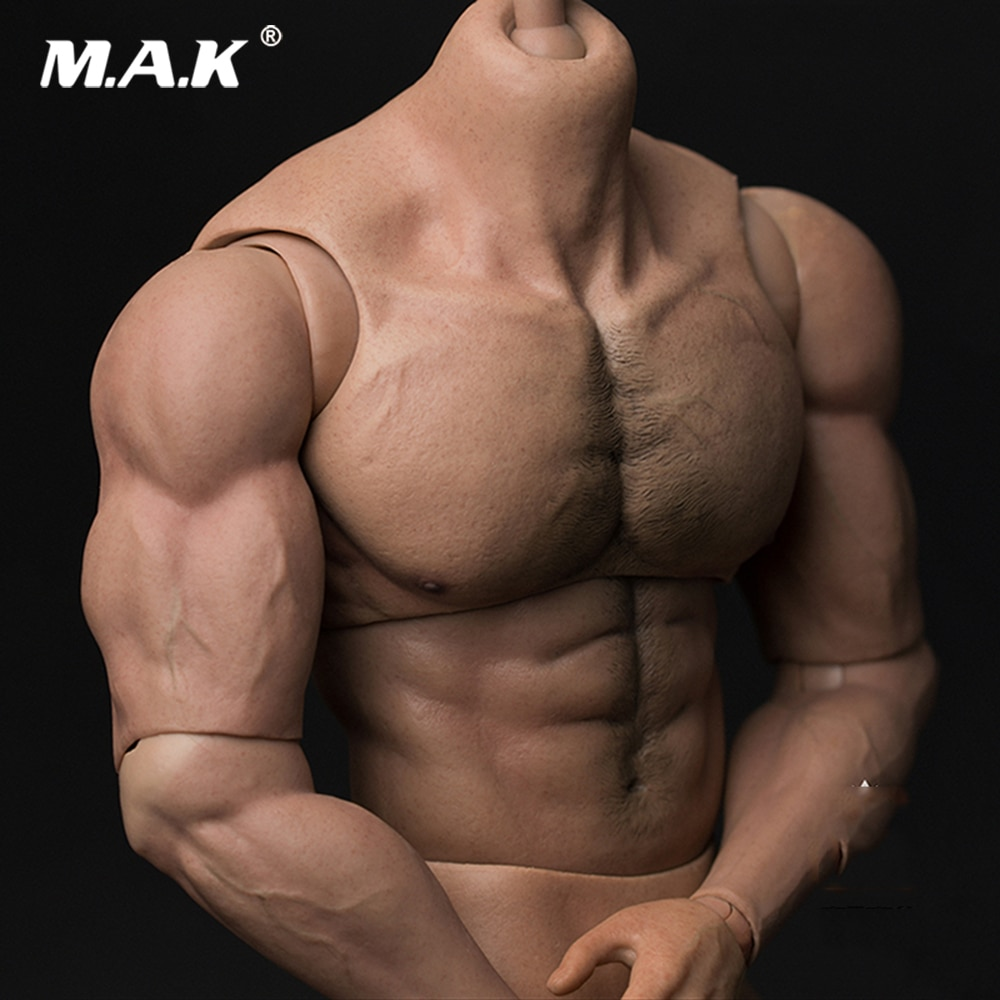 مجسم حركة 33 سنتيمتر AT027 1/6 ، جسم ذكر طويل ، جسم متين ، ممزق ، رجل قوي ، نموذج لرأس 1:6