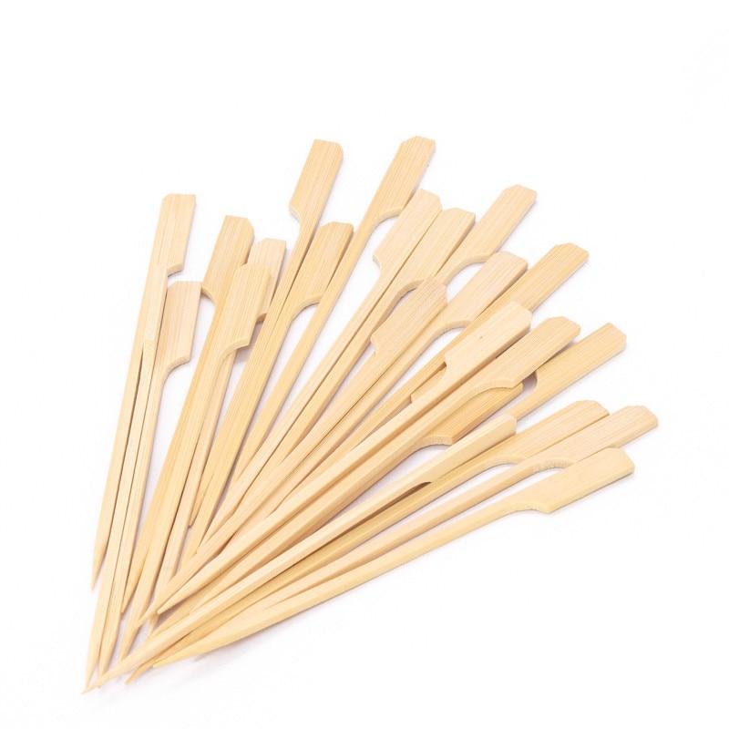 100 шт. 15 см Бамбуковые Шпажки, весла для барбекю, гриля, кебаба, барбекю, фруктовые зубочистки, товары вечерние, уличные инструменты