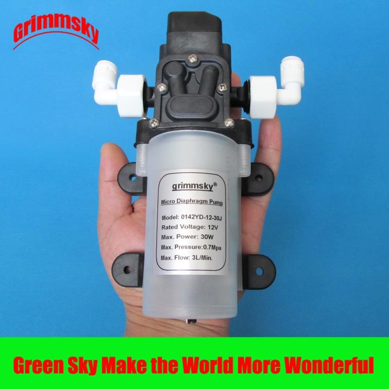 3 لتر/دقيقة 12 فولت 30 واط نظام تنقية المياه ، فلتر المياه ، مضخة الضغط