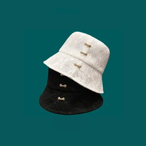 Summer Thin Lace Buckle Diamond Basin Hat Luxury Thin Beach Bucket Cap Breathable Fisherman Hats With Rope Comfortable Panama