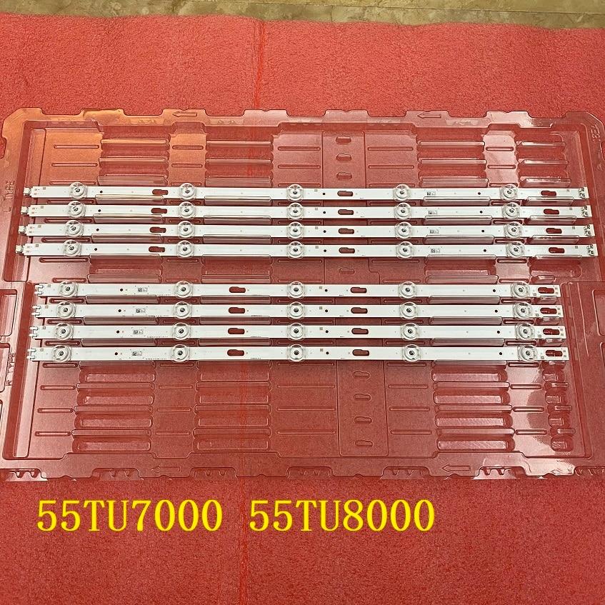 LED الخلفية (8) لسامسونج UN55TU7000G UN55TU8000G UE55TU7020K UE55TU7092 UA55TU8000 UE55TU7000 UE55TU8000 BN96-50316A 50315A