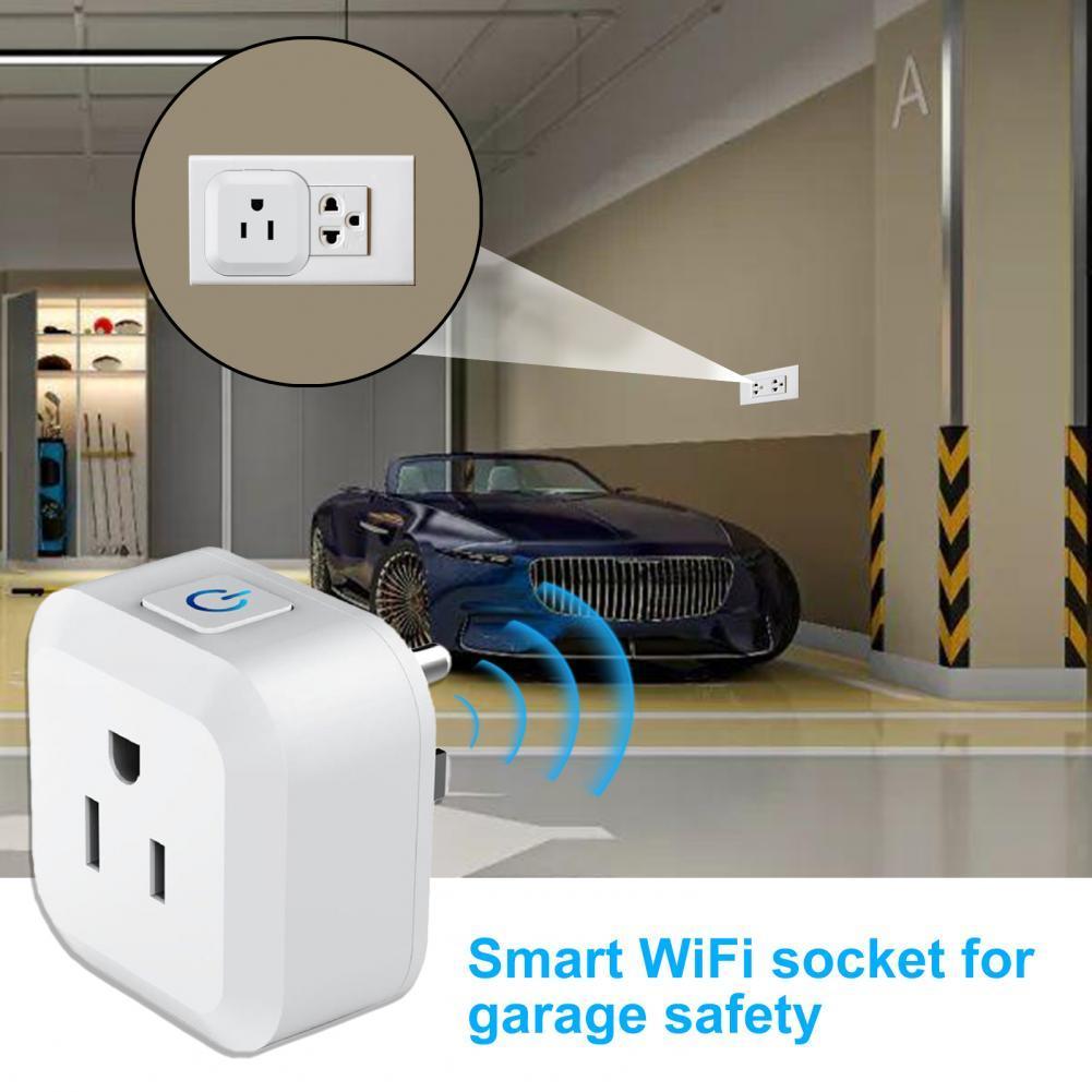 50% горячая Распродажа S11 WiFi розетка умная огнестойкая белая Голосовое управление WiFi вилка для гаража