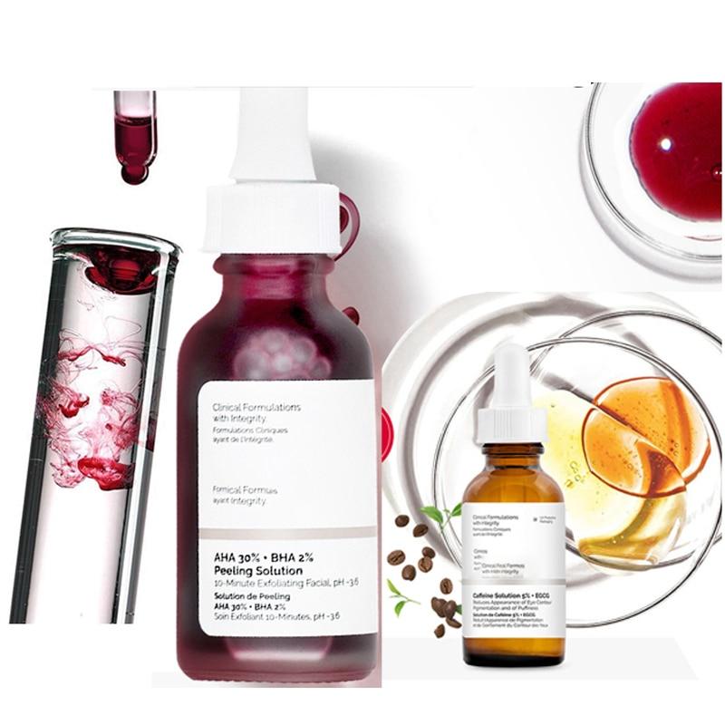 Ordinary Face Serum 10-Minute Exfoliating Face AHA 30%+ BHA 2% Peeling Solution 30ml Blemishes Remov