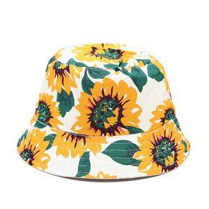 2021 four seasons Cotton print Bucket Hat Fisherman Hat outdoor travel  Sun Cap for men and Women 180