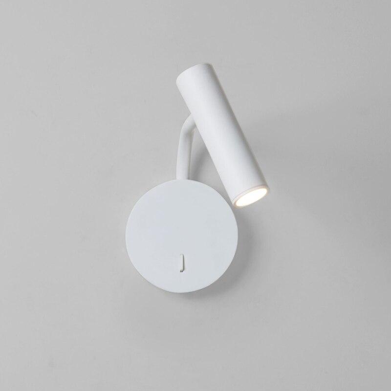 Zerouno arandelas de parede quarto cabeceira luz de leitura livro luz 350 graus de rotação de alumínio cree chip 3w 85-265v montado wandlamp