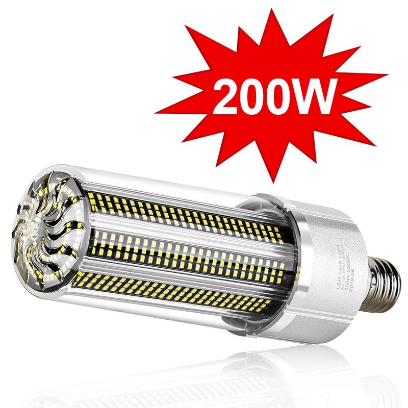 Super Bright LED E27 Corn Bulb 25W-200W LED Lamp 110V 220V Smart IC E39 E40 Big Power For Outdoor Pl