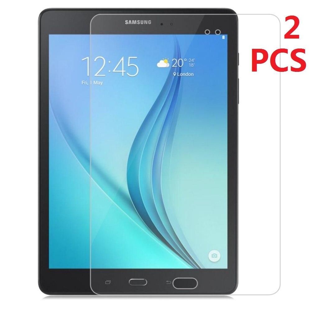 "2 unidades de película protectora de pantalla de vidrio templado para Samsung Galaxy Tab A 9,7 T550 T551 T555 9,7"""