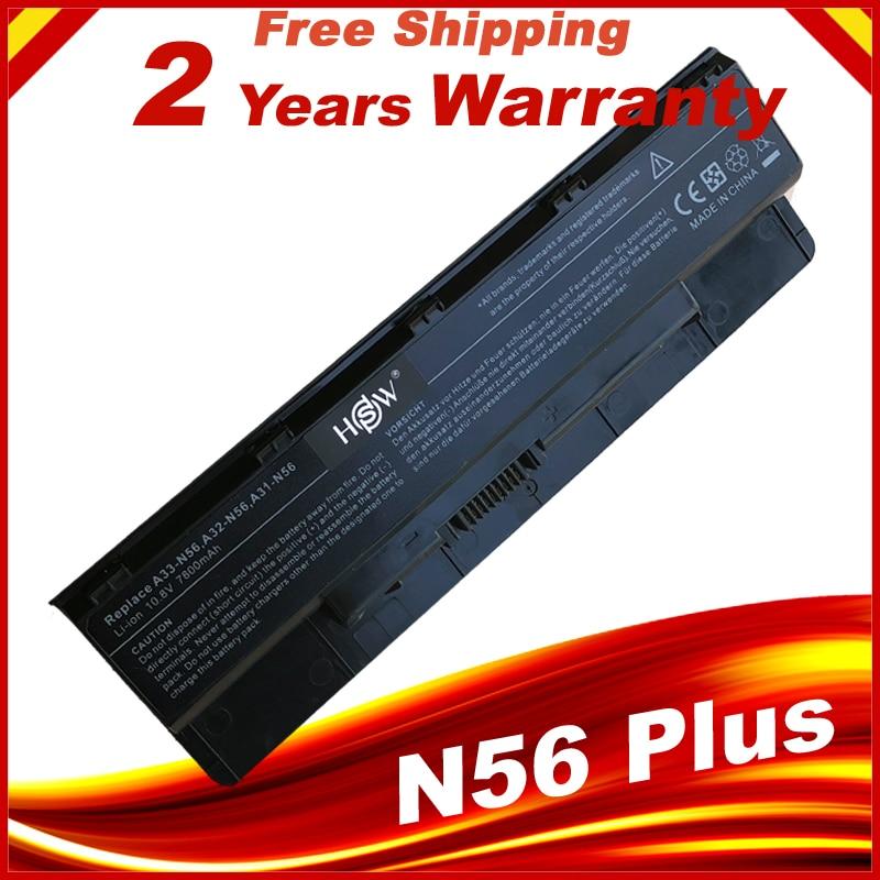 HSW Laptop Battery A31-N56 A32-N56 A33-N56 For Asus N56 N56D N56D N56DY N56J N56JK N56VM N56VV N56VZ N56JN N56JR N56V N56VB Fast