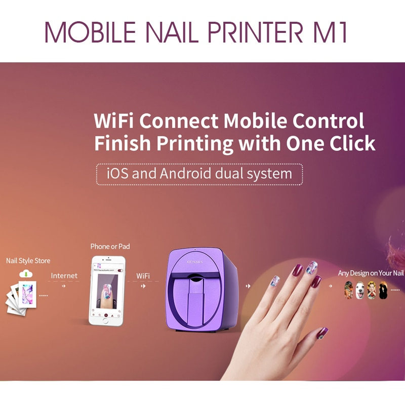 Skineat Mobile Nail Printer 3D Automatic Nail Painting Easy All-Intelligent Print Machine Manicure Equipment