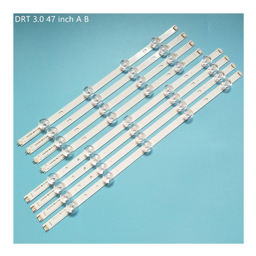 جديد 5 مجموعة = 40 قطعة LED قطاع بديل لـ LG 47LB6300 47GB6500 innotek DRT 3.0 47 بوصة Ab 6916L-1715A 1716A 6916L-1961A 1962A