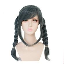 Peluca de Cosplay de Peko Pekoyama, Danganronpa, dangan-ronpa, peluca de Cosplay de pelucas de color gris sintético