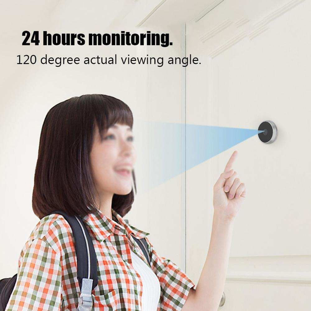 3.5 Inch Video Peephole Digital Door Dry Battery Doorbell With Home Security Camera 120 Degree Angle Peephole Viewer Eye Outdoor enlarge