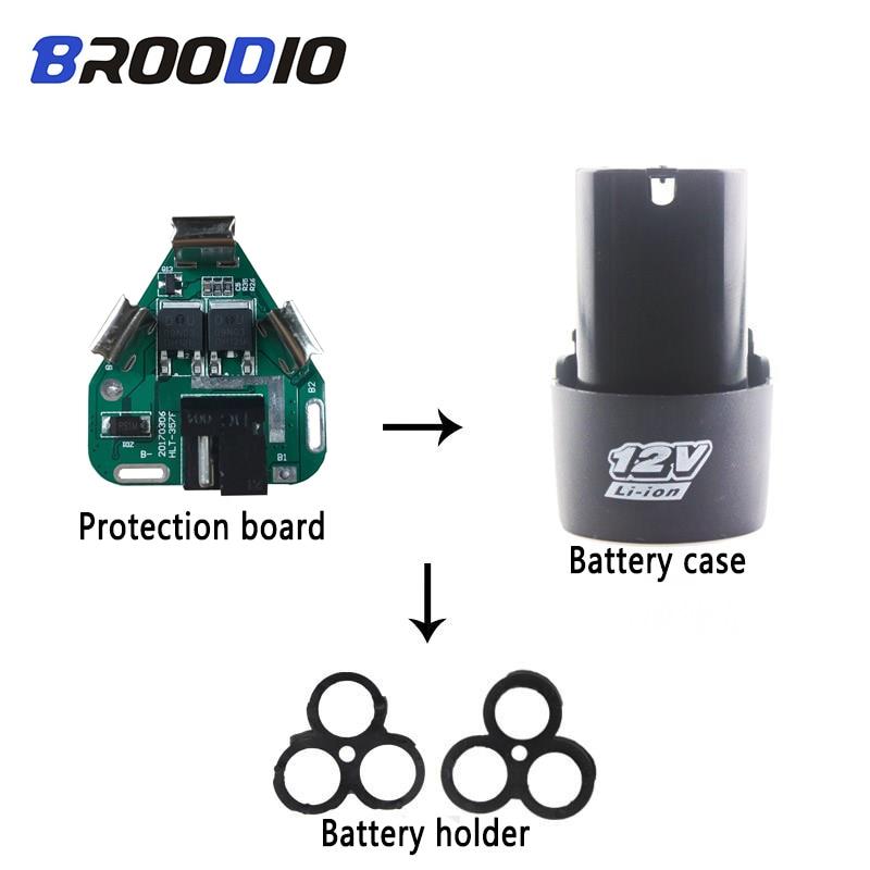 BMS 3S 12V DC outils électriques Li-ion batterie Protection carte BMS Circuit 18650 support 3 paquets de cellules pour main Lithium perceuse PCB