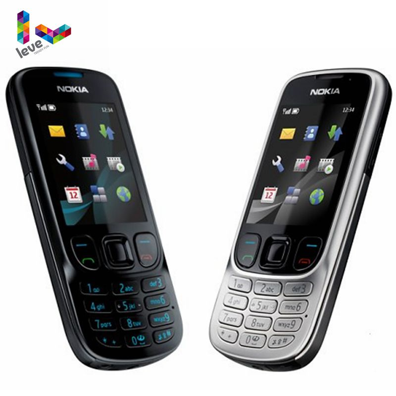 Original Unlocked Nokia 6303 Classic 6303C FM GSM Mobile Phone Support Russian Keyboard Cell Phone F