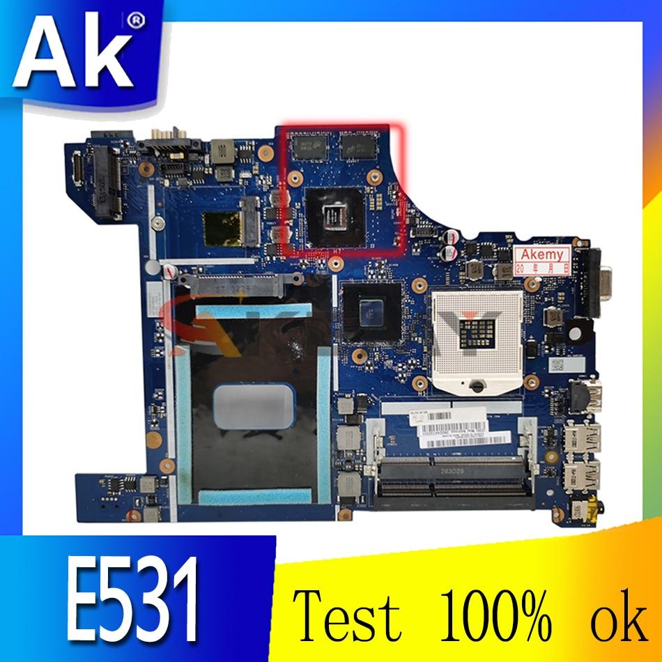 Akemy لينوفو ثينك باد E531 اللوحة الأم للكمبيوتر المحمول VILE2 NM-A044 FRU 04Y1301 اللوحة الرئيسية HM77 DDR3 Geforce 710 متر