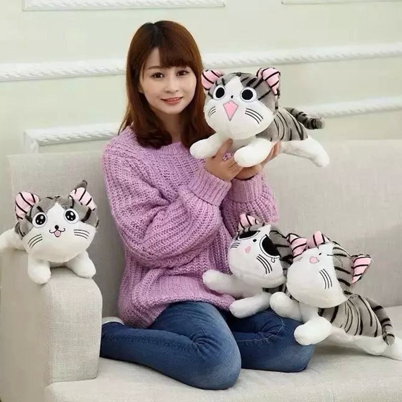 20/30cm Cat Plush Toys Chi Chi's Cat Stuffed Doll Soft Animal Dolls Cheese Cat Stuffed Toys Dolls Pi