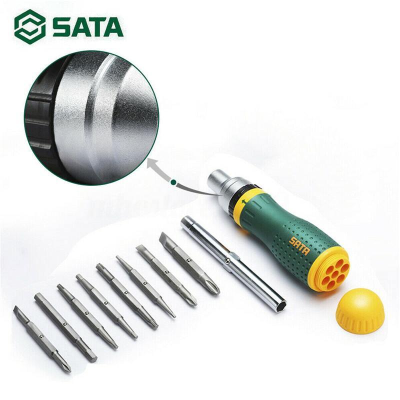 Sata 19-en-1 herramienta de mano Multi-Herramienta de trinquete kits de destornilladores conjunto de herramientas de mano multifunción destornillador de mango casa conjunto de herramientas de reparación