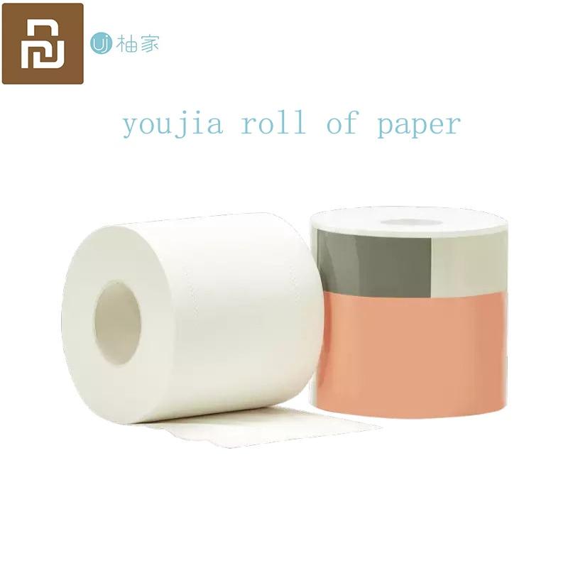 Rollo de papel de baño Youjia 1-20 rollos de pulpa de madera Natural de Xiaomi Youpin