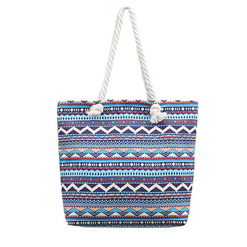 Bolsa de compras de lona de las mujeres bolsa de hombro respetuoso con el medio ambiente reutilizable Simple de gran capacidad portátil de bolsa de compras