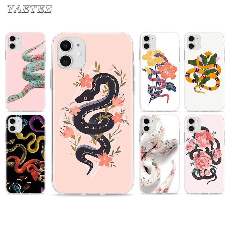 Mão animal cobra flor telefone estojo para iphone 11 pro 7 8 se 2020 x xr xs max 6s plus 5 5S 7 + 8 tpu capa macia