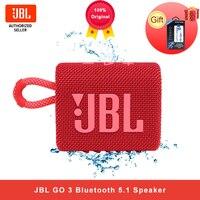 Беспроводная колонка JBL GO3, Bluetooth 5,1, GO 3, переносной водонепроницаемый динамик, уличная Колонка s, Спортивная, басовая колонка, 5 часов работы, а...
