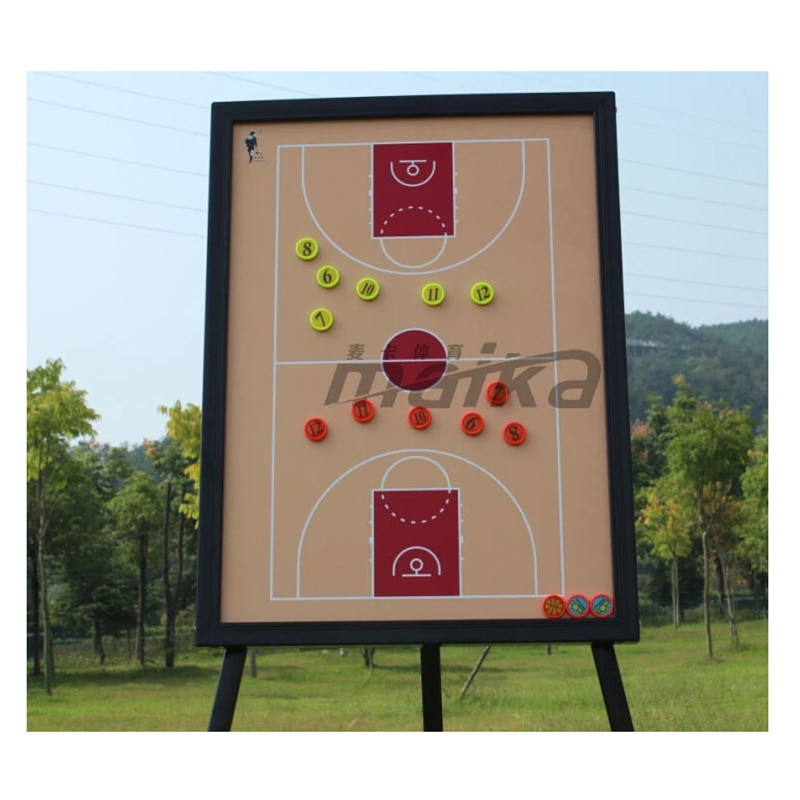 MAICCA Basketball Coaching Board Magnetic Tactical with Holder Carry Bag Professional Outdoor Racing Springs