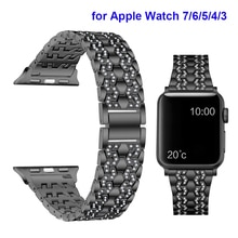 Jewelry Bling Strap for Apple Watch Band 41mm 45mm 38mm 40mm 42mm 44mm Metal Bracelet for iWatch SE