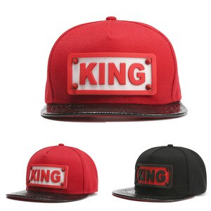 Adult KING Letters Hip-Hop Sunshade Baseball Cap Men And Women Outdoor Trend Sports Flat Along Hip-Hop Hat