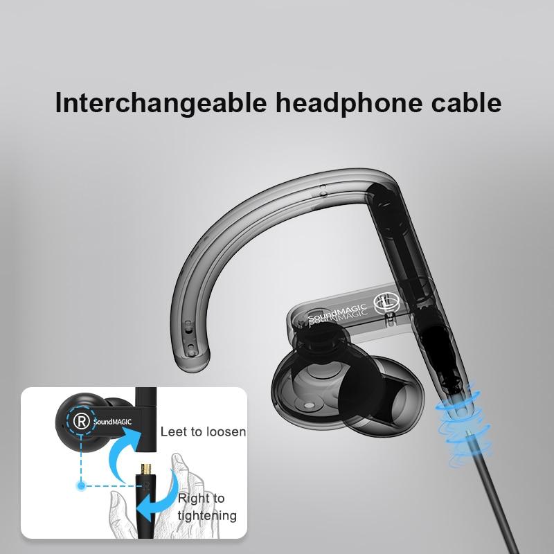 SoundMAGIC ST80 Wireless Sports Earphones Bluetooth headsets Waterproof Wired Earbud HiFi Sound Interchangeable Cable headphones enlarge