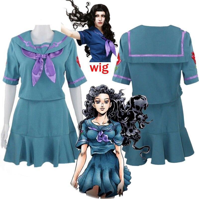 2020 jojo bizarra aventura cosplay traje yamagishi yukako uniformes vestidos femininos ternos de marinheiro jojo roupas personalizadas qualquer tamanho