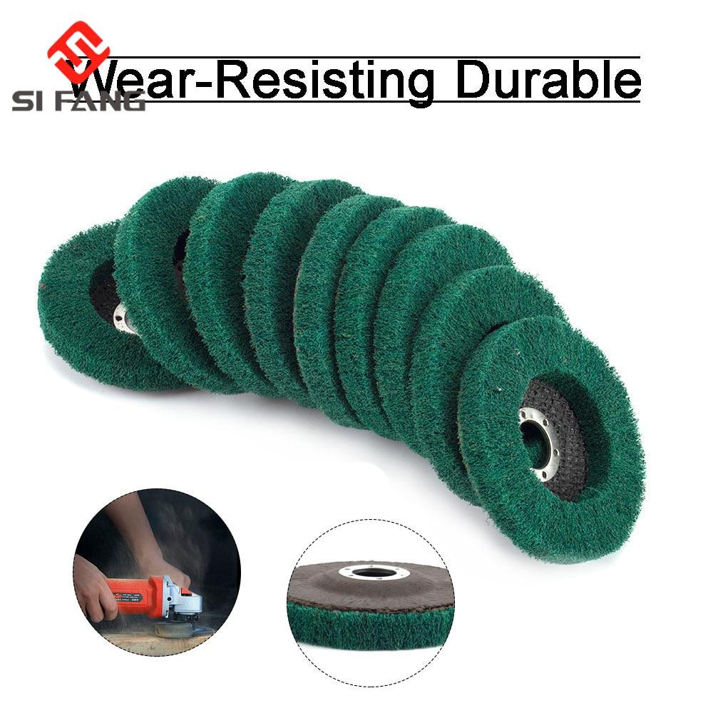 """4,5 """"kotouč kotouče na leštění kotoučů z nylonových vláken o průměru 115 mm, zrnitost 180 pro úhlovou brusku na broušení dřeva a kovů"""