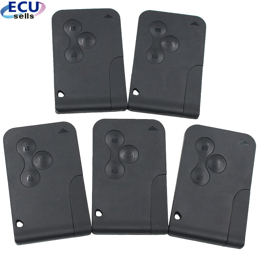 5 uds X llave remota semiinteligente para Megane tarjeta inteligente 3B 433MHZ ID46 PCF7947 para Renault Megane Scenic 2003-2008