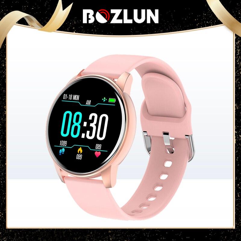 BOZLUN ساعة ذكية النساء 2021 مقاوم للماء الصحة مراقب معدل ضربات القلب جهاز تعقب للياقة البدنية الرجال Smartwatch 2021 جديد relogio ساعة ذكية