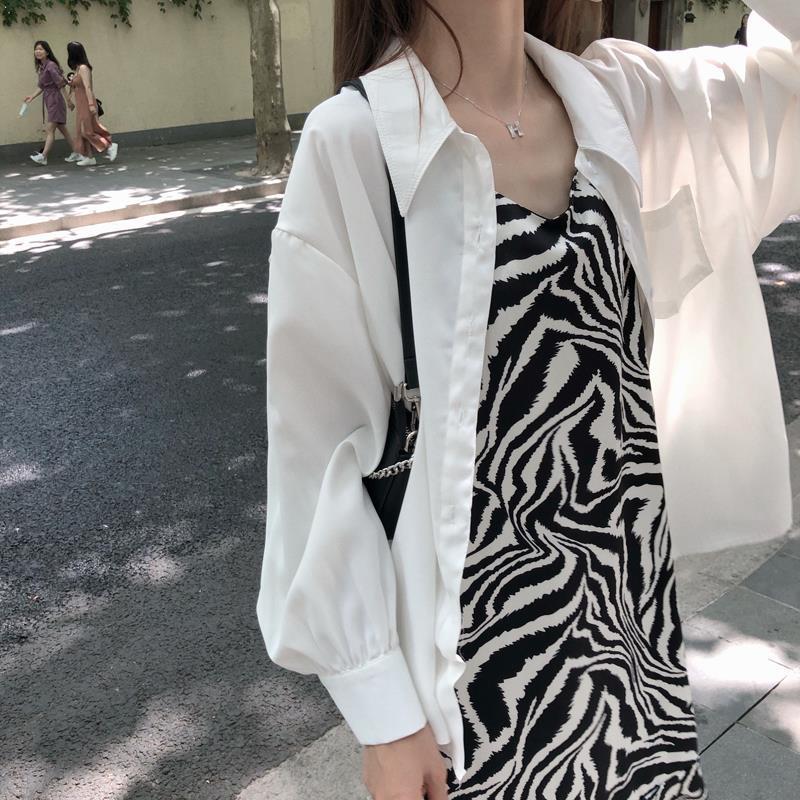 Dress Womens Zebra Harajuku Ruffles Spaghetti Strap Loose Korean Style Maxi Elegant Lady Casual All-match Femme Chic High Street