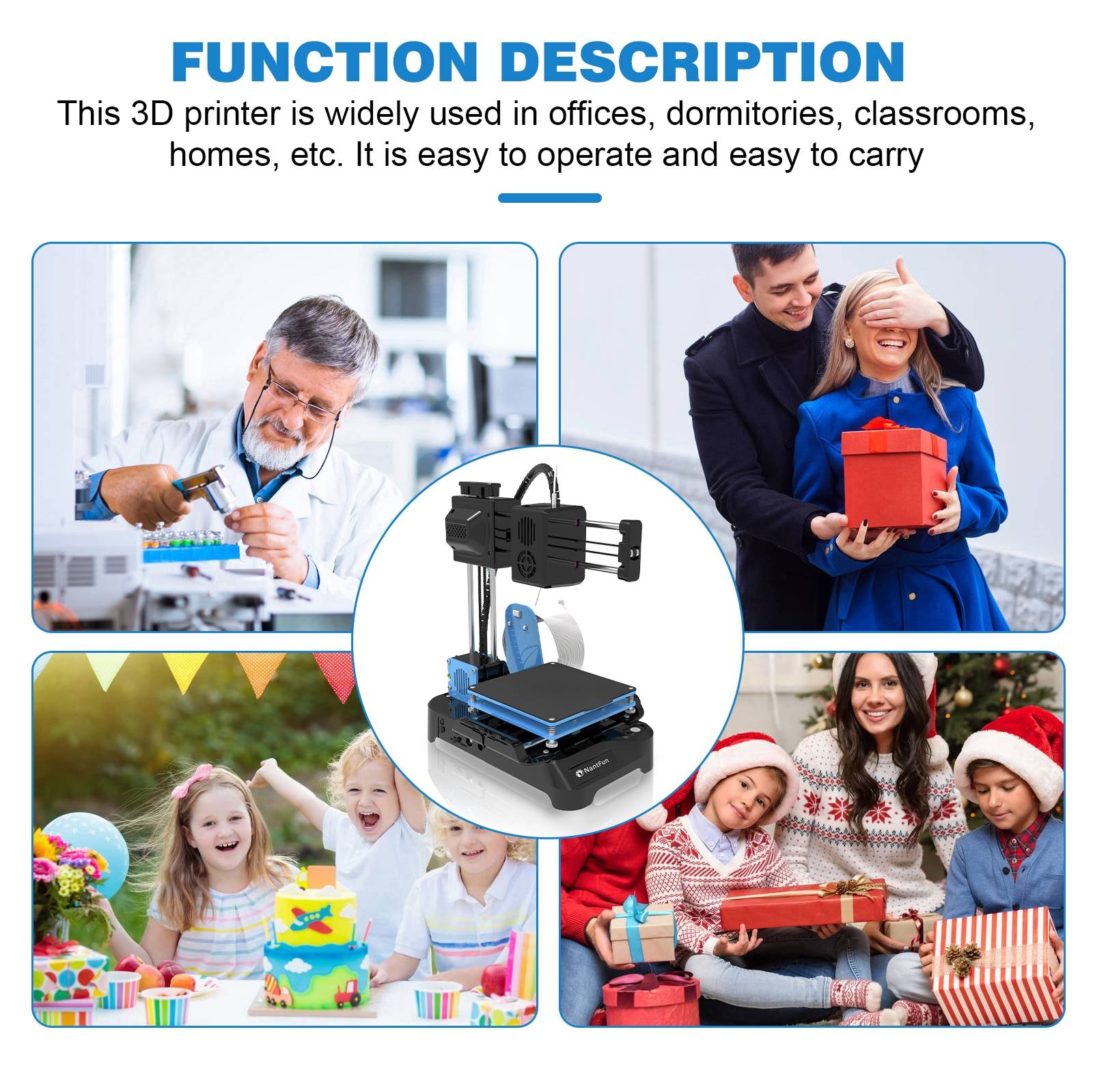 3D Mini Printer 100x100x100mm No Heated Bed One-Key Printing With TF Card PLA Filament Simple Printing Machine enlarge