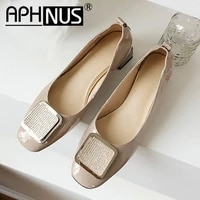 aphnus womens rhinestone office work low mid heels pumps woman 2020 shoes for women new