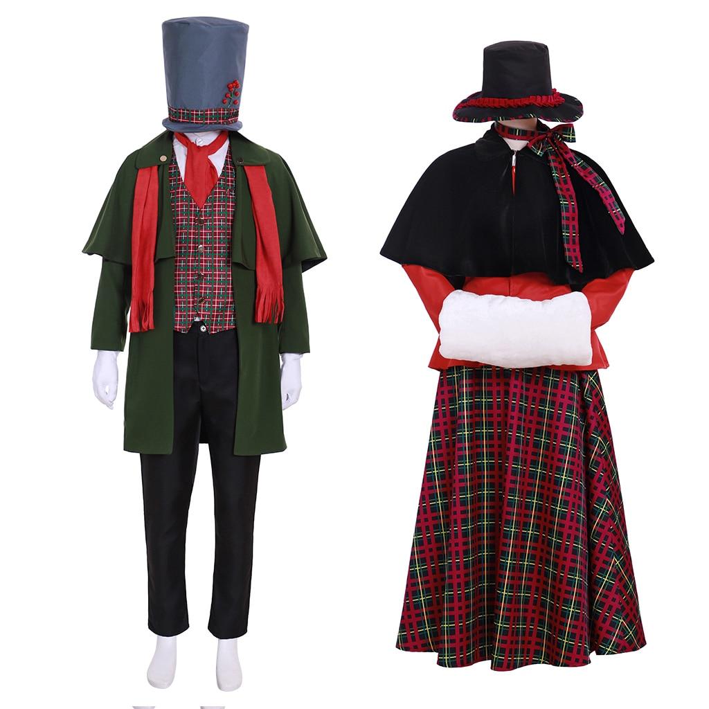 Карнавальный костюм «сделай сам» для косплея на Рождество, костюм для косплея, средневековый мужской женский Рождественский костюм любовн...