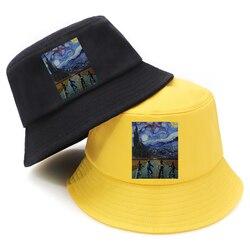 Balde chapéu masculino/mulher coisas estranhas dobrável pescador casual protetor solar poliéster panamá moda ao ar livre novo chapéu pescador