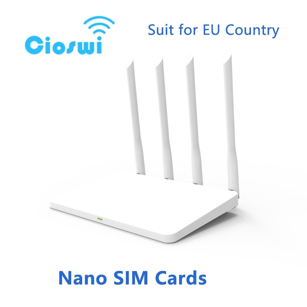 Cioswi WE2805-A 4G LTE موزع إنترنت واي فاي لاسلكي MT7628NN 300mbps 3G 4G جهاز توجيه لمودم واي فاي موزع إنترنت واي فاي مع فتحة للبطاقات SIM للمنزل 4G LTE راوتر