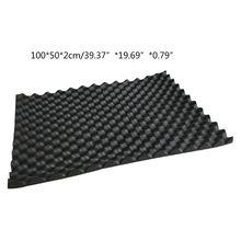 100x50 см автомобильный звукопоглощающий коврик, шумоизоляция, акустический амортизирующий пенный коврик