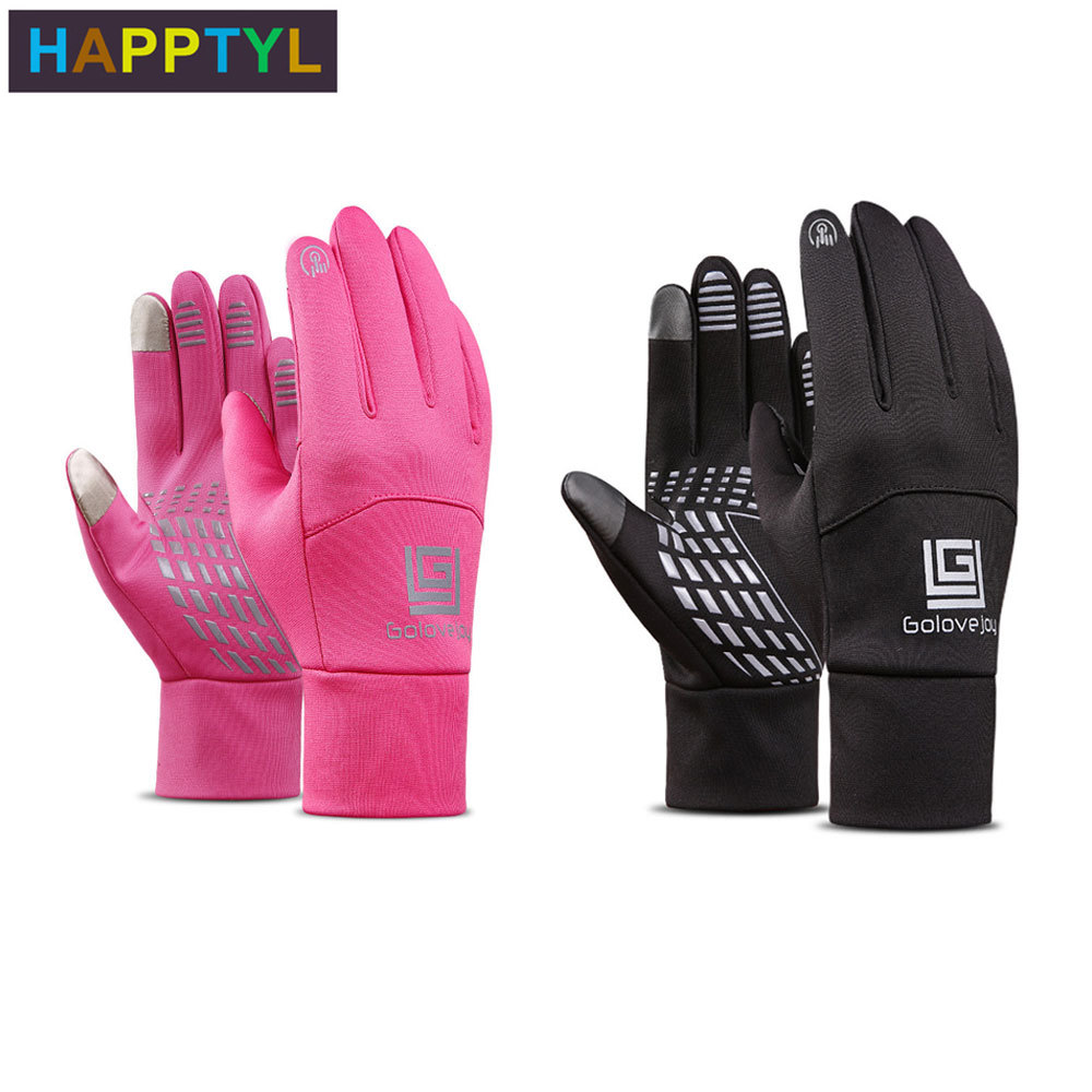 HAPPTYL 1Pair Winter Gloves Diving Cloth  Anti-slip Motorcycle Touch Screen Gloves Finger Fleece Warm Gloves for Women Men happtyl 1 pair winter men