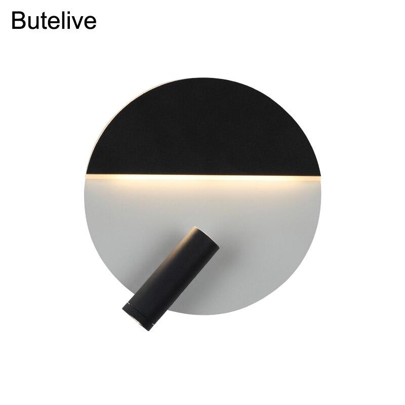 Lámpara de pared Led nórdica con interruptor, Mini aplique de luz de pared para el hogar, iluminación de noche para dormitorio, lámpara de lectura de Estudio 8W 10W