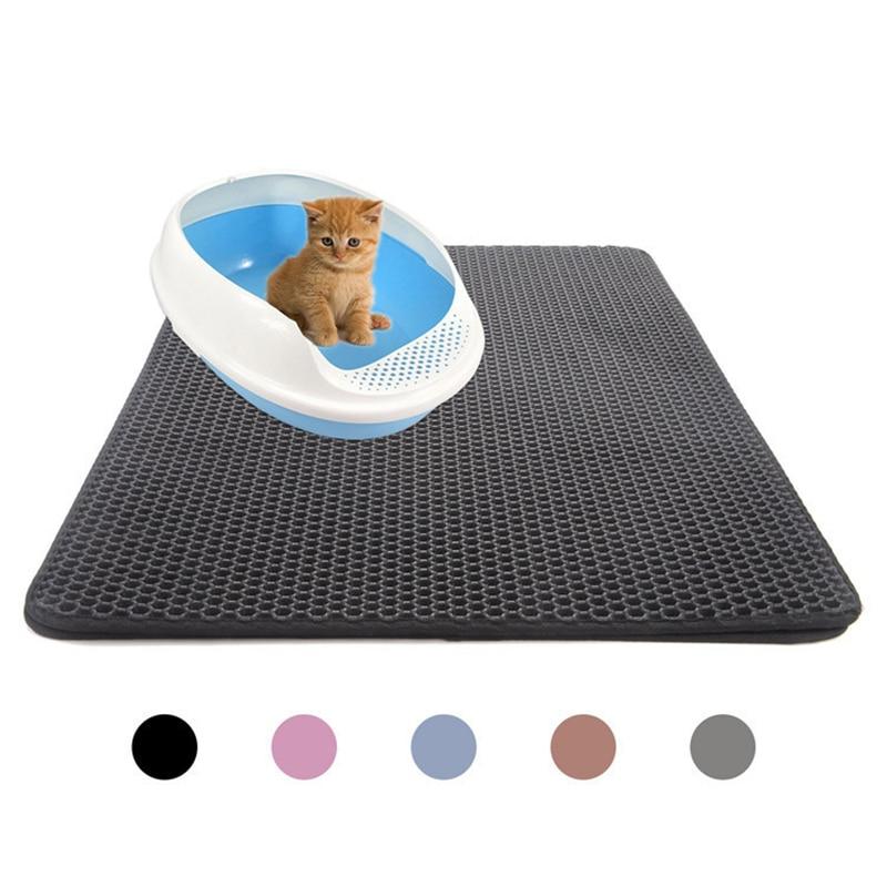 Alfombra de cama para gatos y mascotas, cama para casa, suelo portátil de doble capa, cama para gatos, productos para gatos