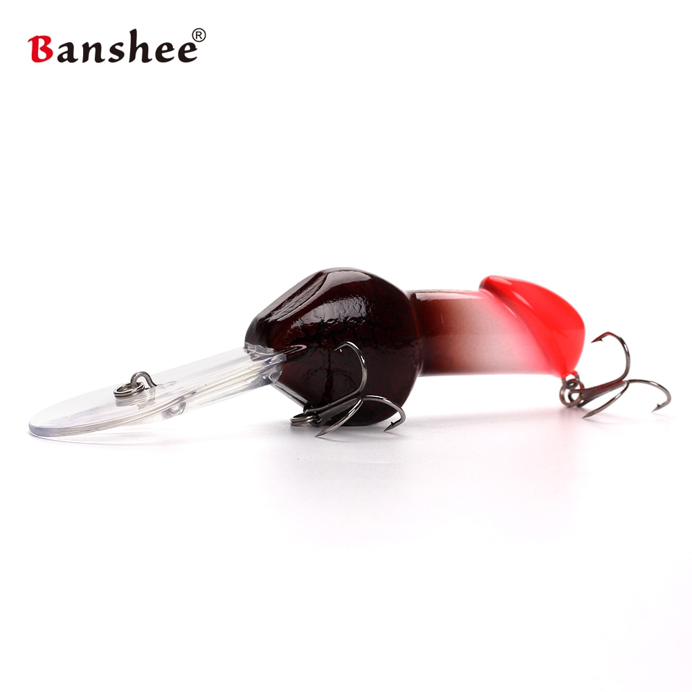 Banshee 85mm 27g   artificial penis lures Valentine's gift Big Deep Diving Dick Rattle Minnow Crankbait Fishing Lure Hard Bait