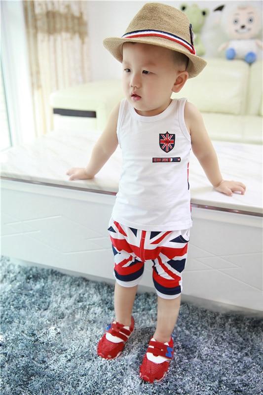 Купить с кэшбэком New Summer Fashion Children Clothes Boys Girls Baby Cartoon Vest Shorts 2Pcs/Sets Infant Cotton Clothing Kids Toddler Sportswear