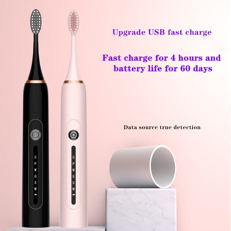NEW Sonic Electric Toothbrush USB Rechargeable 6 Modes Smart Ultrasonic Toothbrushes Oral Care Brush Teeth Whitening Best Gift enlarge