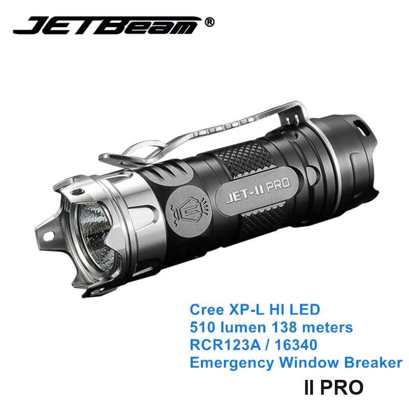 Jetbeam II PRO Cree XP-L светодиодный EDC Мини фонарь светильник 16340 маленькие Кемпинговые фонари светильник s с самозащитой оконный выключатель