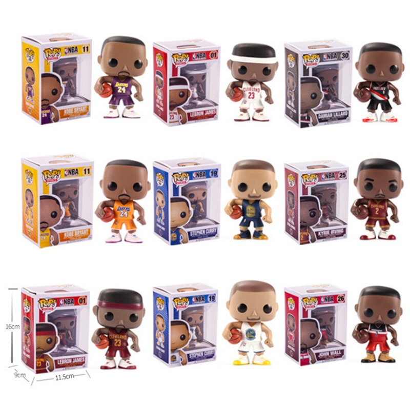 Nieuwe Pop Basketbal Ster James-Kobe-Stephen Curry-Kyrie Irving-John Wall-Action Figure Collectible model Speelgoed Voor Fans